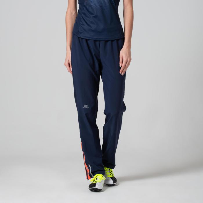 Atletiekbroek voor dames Kiprun donkerblauw