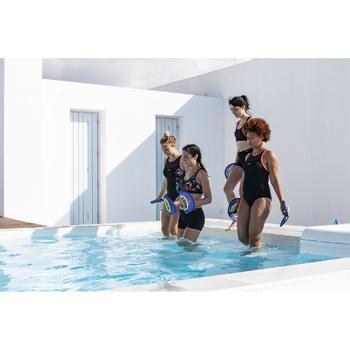 Bovenstukje voor aquafitness Lou Juni zwart/oranje