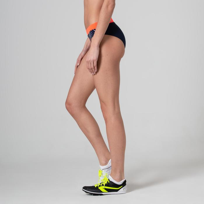 Braguita Corta Deportiva Running Kalenji Athletics Mujer Azul Marino/Naranja