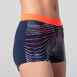 Atletiekshortje voor dames blauw/oranje