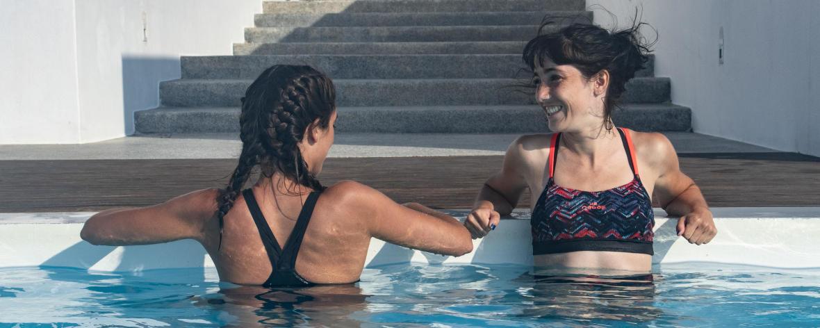 piscine soin peau cheveux