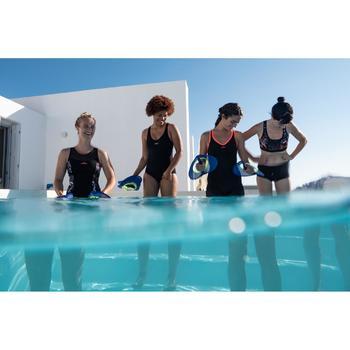 Maillot de bain une pièce d'Aquafitness femme Lou noir