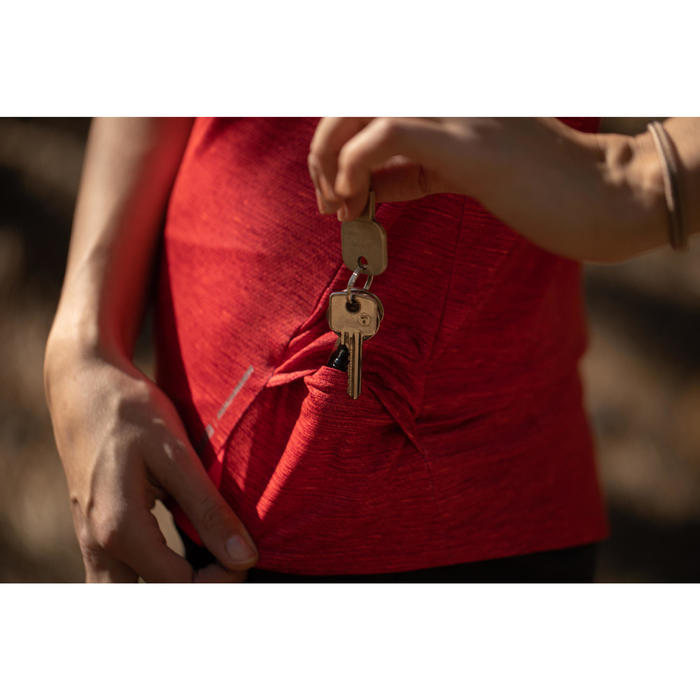 MTB-shirt met korte mouwen ST100 rood/roze
