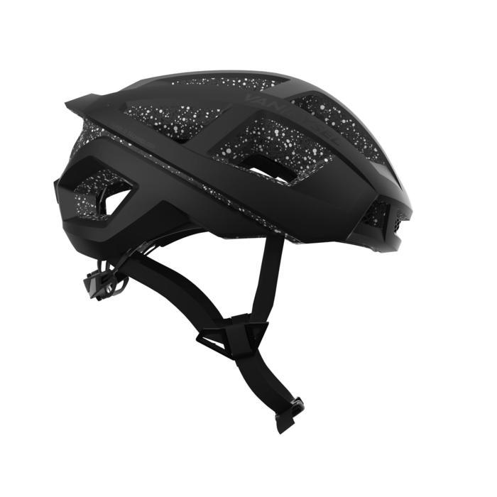 Fahrradhelm RR 900 schwarz/gepunktet