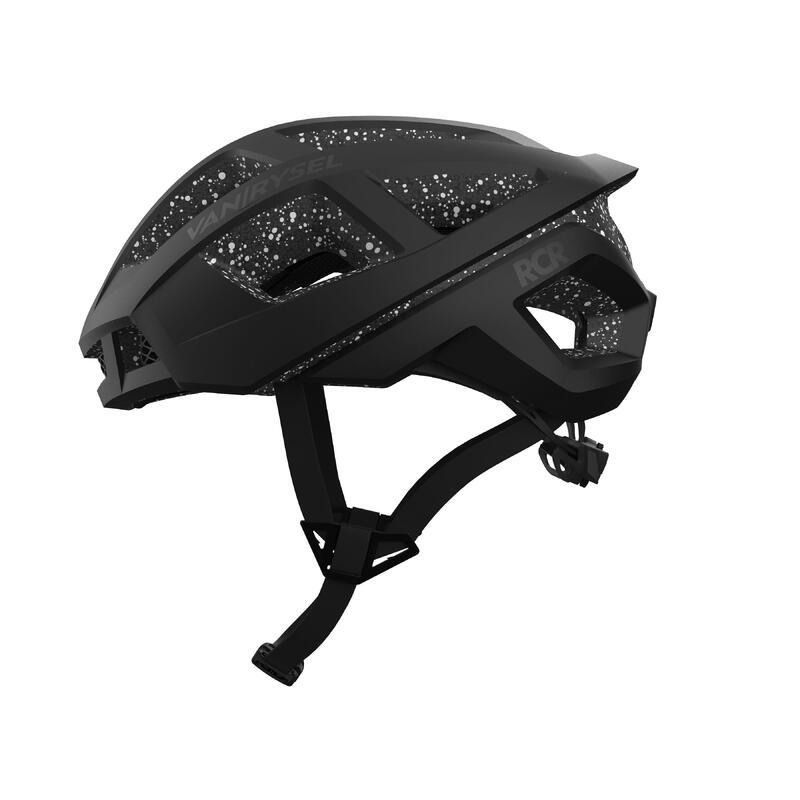 Fietshelm Roadr 900 zwart met stippen