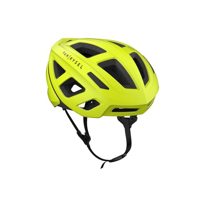 Casque vélo route Roadr 500 jaune fluo