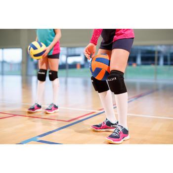 Volleybal V100 SOFT 200-220g geel en blauw voor 6- tot 9-jarigen