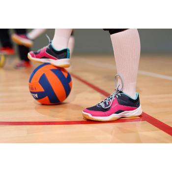 Volleybal V100 SOFT 230-250g oranje en blauw voor 10- tot 14-jarigen