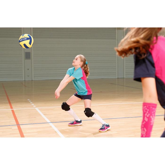 Maillot de volley-ball fille V100 vert et rose