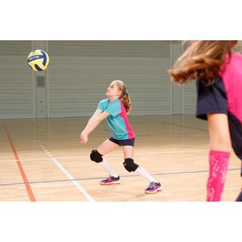 Volleybalshirt meisjes V100 groen/roze