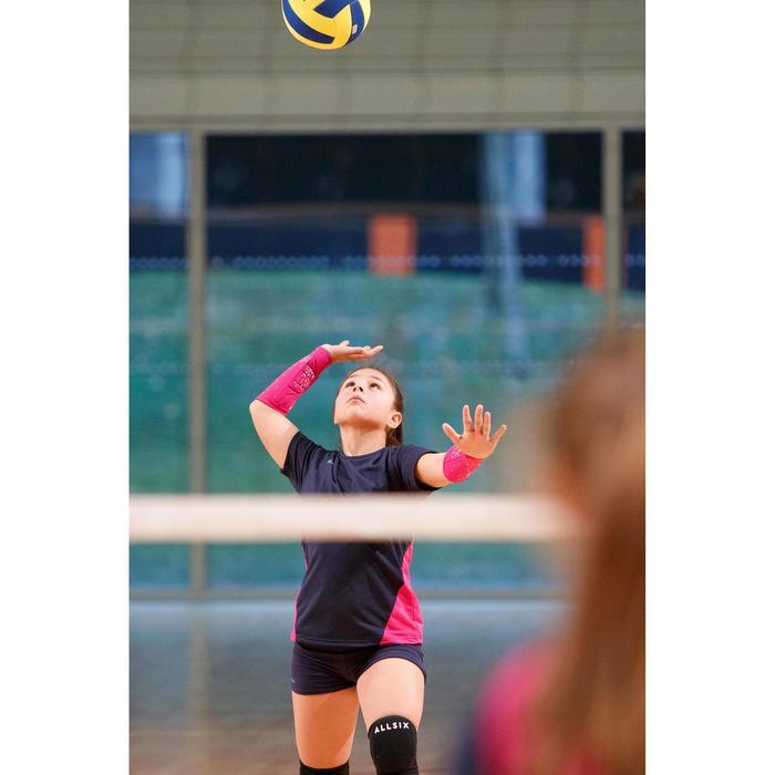 Camiseta de voleibol niña V100 Azul y Rosa