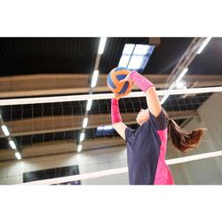 Volleybalshirt meisjes V100 blauw/roze