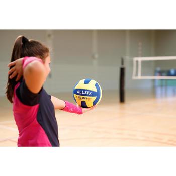 Volleyball V100 Soft 200–220 g 6–9 Jahre gelb/blau