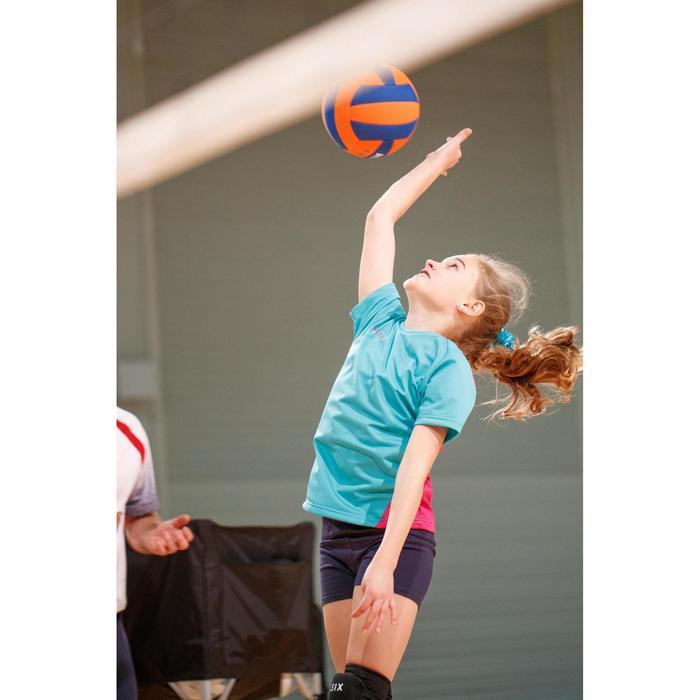 Camiseta de Voleibol Allsix V100 niña verde caribe