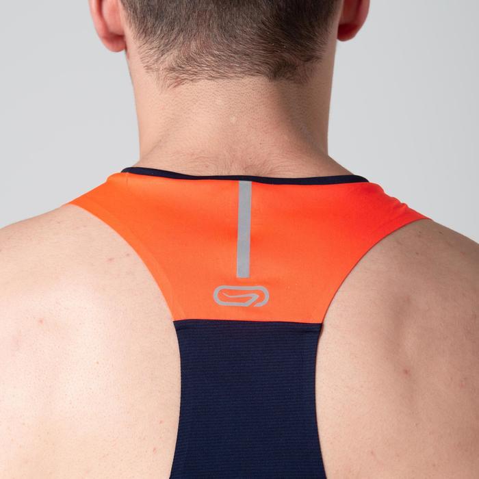 Camiseta Sin Mangas Atletismo Kalenji Hombre Azul/Naranja