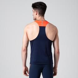 MEN'S ATHLETICS TANK TOP BLUE AND ORANGE