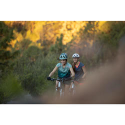 Fahrradhelm MTB ST 500 Damen blau/grün