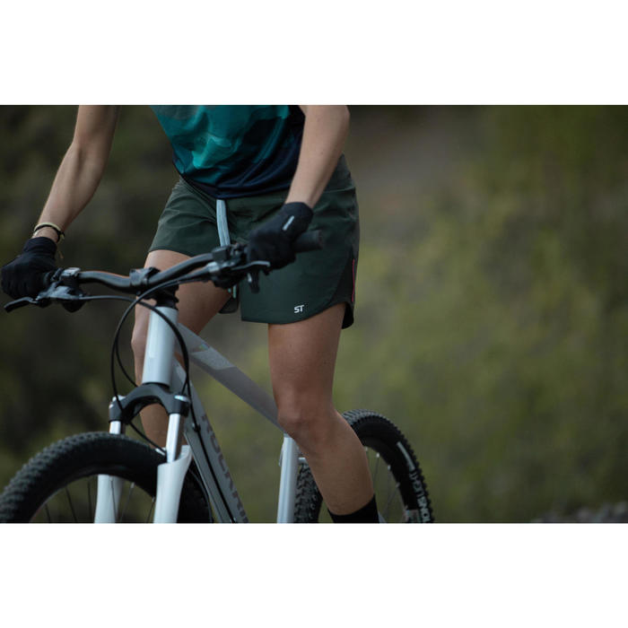 MAILLOT CICLISMO SIN MANGAS MUJER ROCKRIDER ST 500 VERDE