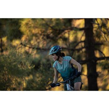 Fahrrad-Trägertrikot MTB ST 500 Damen kaki/blau