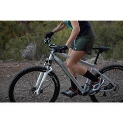 Fahrradtrikot MTB ST 500 ärmellos Damen khaki/grün/grau
