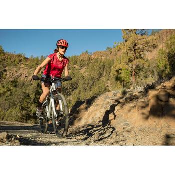 女款登山車安全帽ST 500 - 藍色/粉紅色
