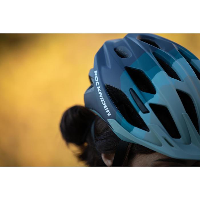MTB helm ST 500 blauw groen fietshelm