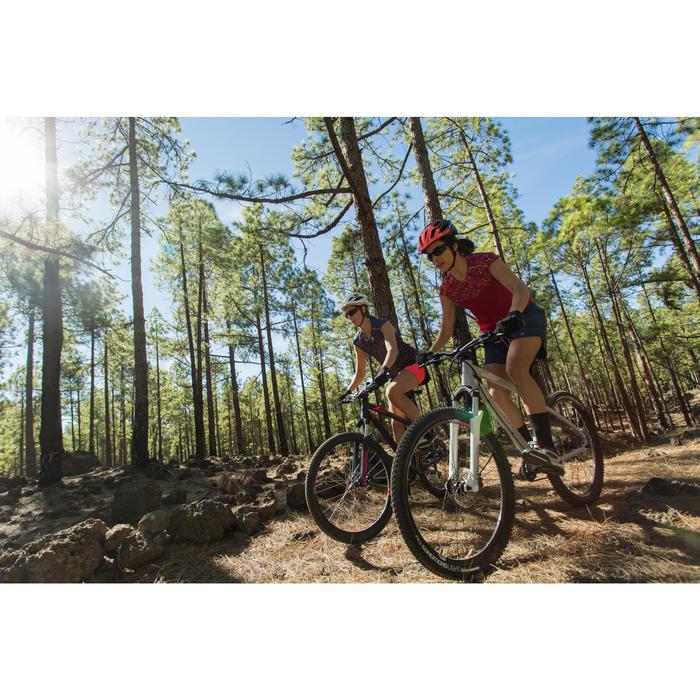 Fahrrad-Trägertrikot MTB ST 500 Damen blau/rosa