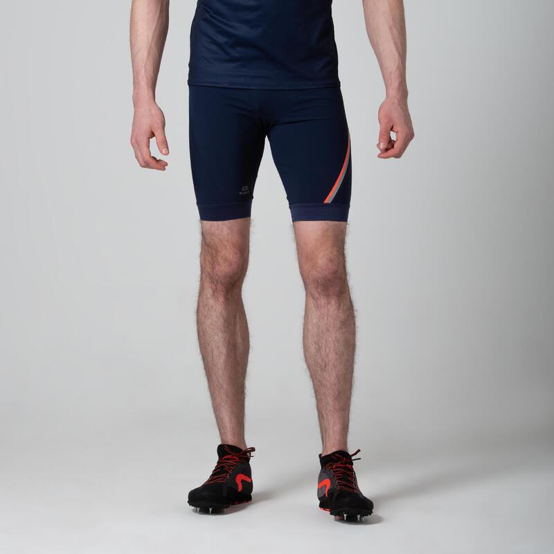 Mallas Cortas Running y Atletismo Kalenji Kiprun Hombre Azul/Naranja