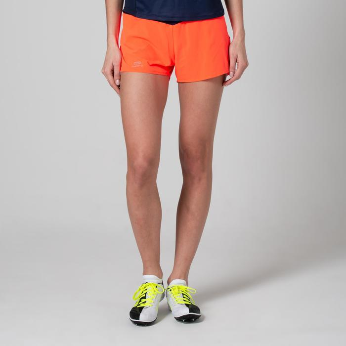 SHORT D'ATHLETISME FEMME ORANGE