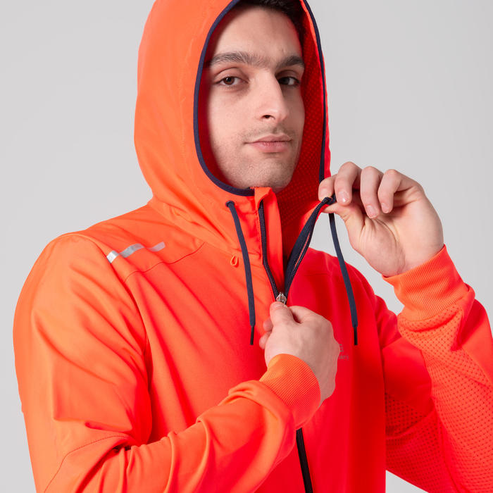 VESTE HOMME WARM-UP ATHLETISME ORANGE
