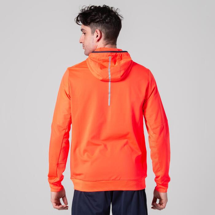 男款運動外套WARM-UP橘色