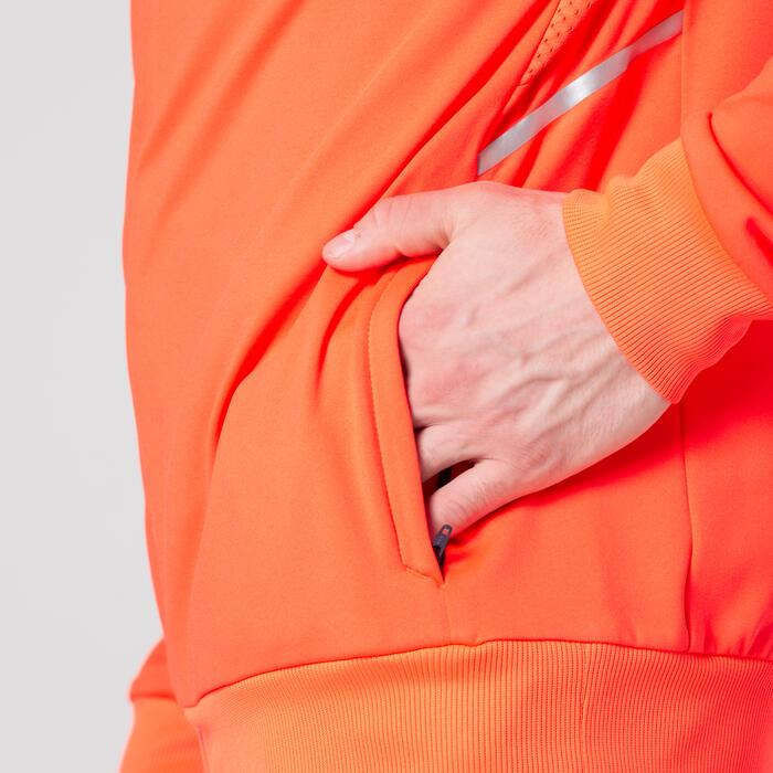 Hardloopjack opwarmjack voor heren atletiek oranje