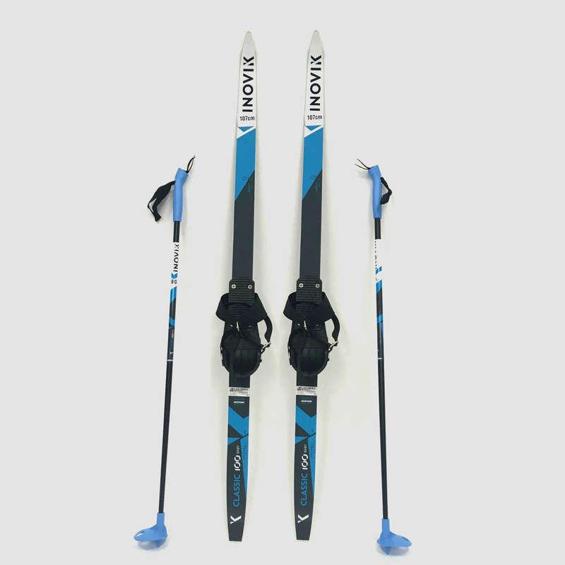 ДЕТСКИЕ БЕГОВЫЕ ЛЫЖИ Беговые лыжи - Комплект Дет. CLASSIC 100 INOVIK - Беговые лыжи