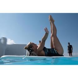 Bañador Top Integrado Aquagym Piscina Nabaiji Lou Escote V Tirantes Mesh Azul
