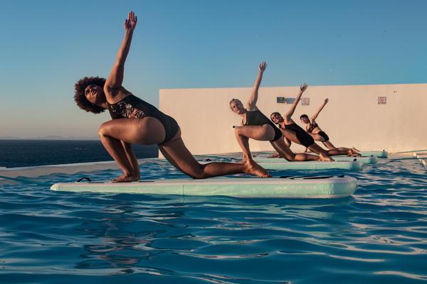 Fitness-Training auf dem Wasser