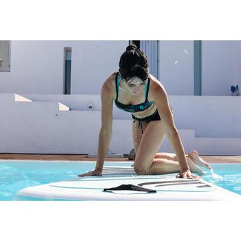 Sportbikini-Oberteil Aquafitness Meg Juni Damen schwarz/blau