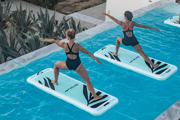 Schwimmende Yoga-Matte - unsere Aquamatte