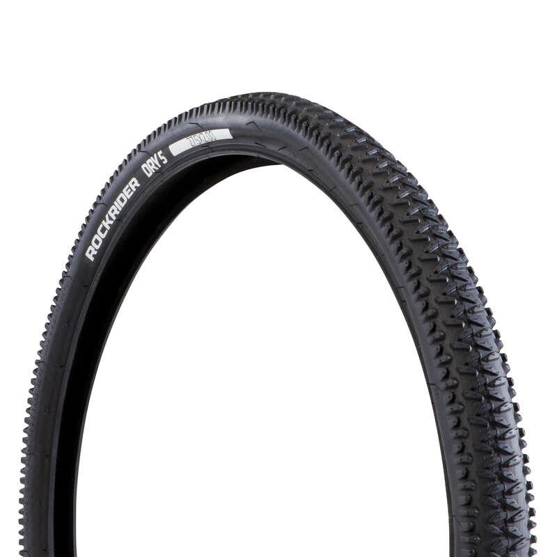 Покрышки для горных велосипедов для сухого грунта Велоспорт - ПОКРЫШКА DRY 5 27.5X2.0 BTWIN - Запчасти и компоненты
