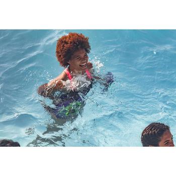 Badpak voor aquafitness dames Anna zwart/roze