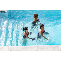 Badeanzug Aquafitness Anna Stri Damen rosa/schwarz