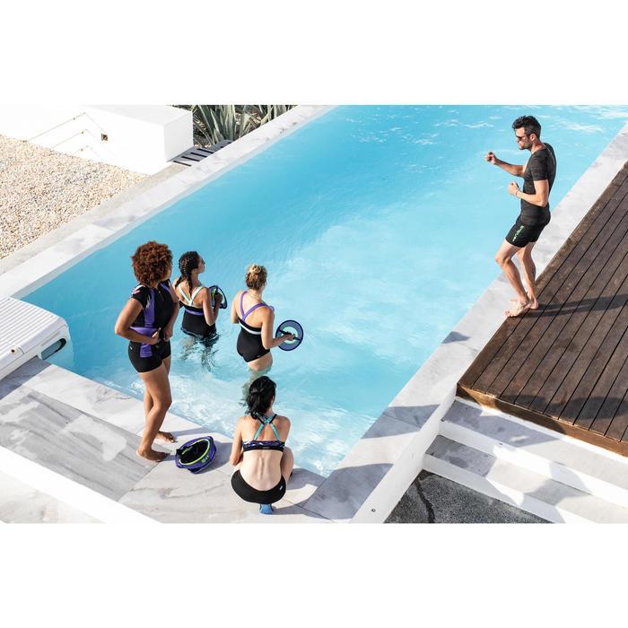 Top bañador de aquafitness mujer Meg Juni negro azul