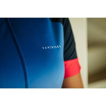 Wielershirt RR900 met korte mouwen voor dames blauw uitlopend