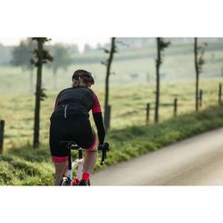 Winddicht fietsjack zonder mouwen voor dames zwart