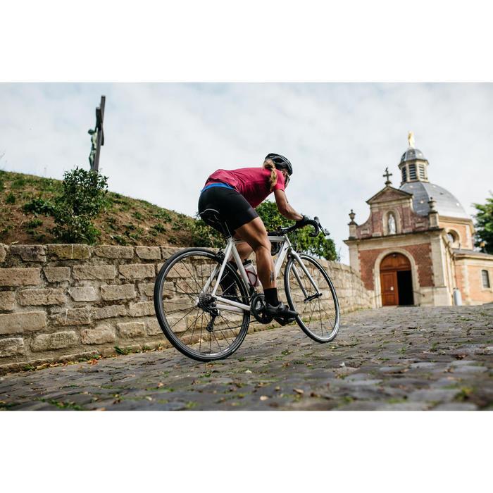 Kurze Fahrrad-Trägerhose Rennrad RC 900 Damen schwarz