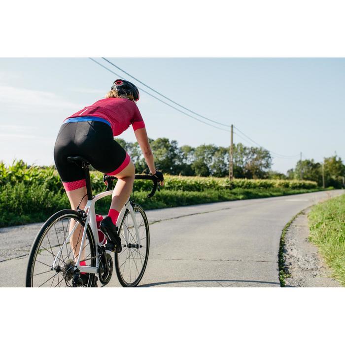 Wielrenbroek RR900 zonder bretels dames zwart roze