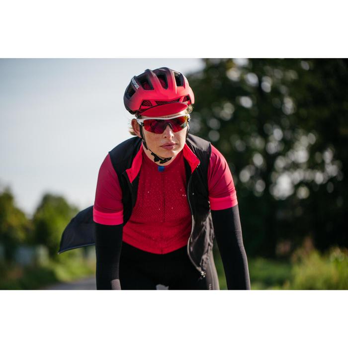 Fahrrad-Weste Rennrad Windbreaker Damen schwarz