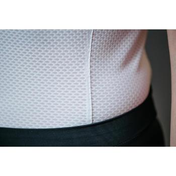 Camiseta blanca interior ciclismo mujer para tiempo cálido