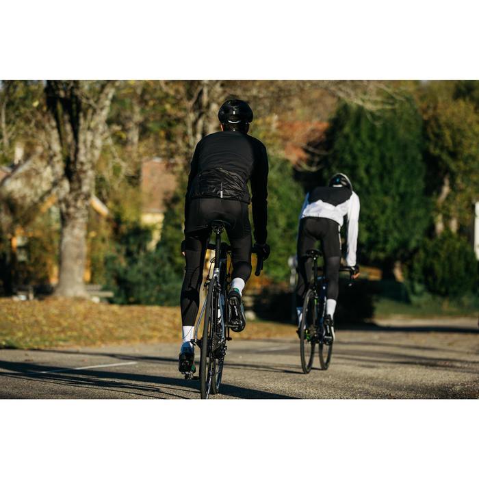Windjack lange mouwen racefiets heren Ultralight zwart