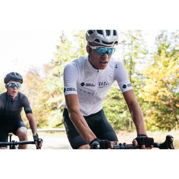 Mouwloos wielrenjack RR900 team voor heren wit