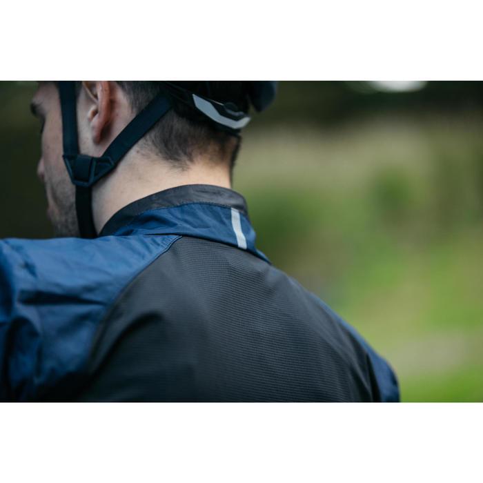 Windjack lange mouwen racefiets heren Ultralight marineblauw